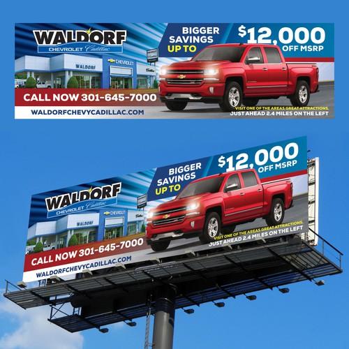 Waldorf Chevy catchy billboard