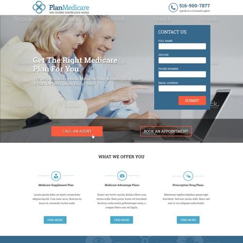 Medicare landing page design - contest entry