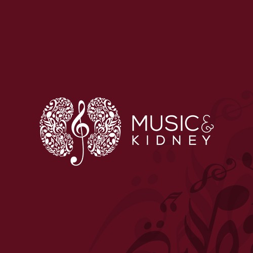 Logo Design for Music & Kidneys - support healing of those with kidney disease