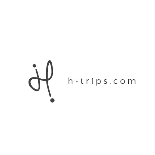 Logo concept for travel agency H trips