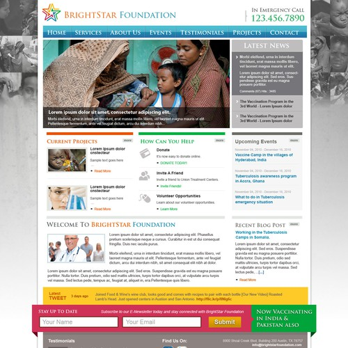 Web Design for a Non Profit Organization