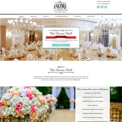 Design a Beautiful Webpage for Wedding Venue