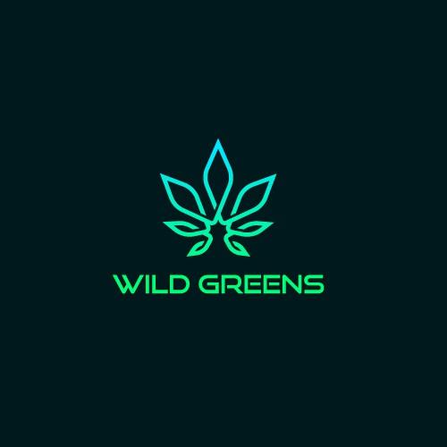 Wild Greens logo design