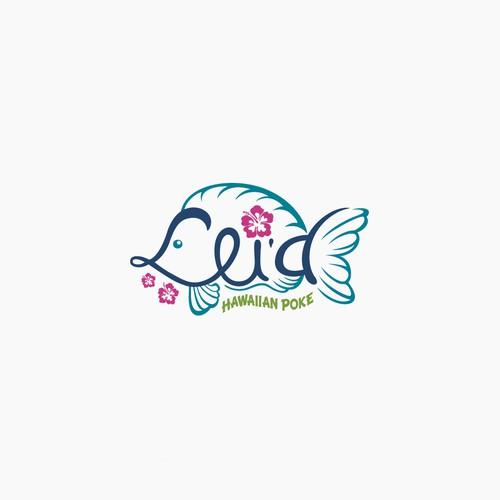 Lei'd Hawaiian Poke logo