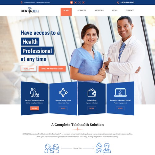 Certintell Website Homepage Redesign