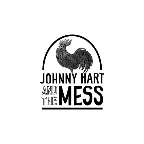 """Logo concept for """"Johnny Hart and the Mess"""""""