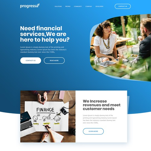 Website design for Progressa