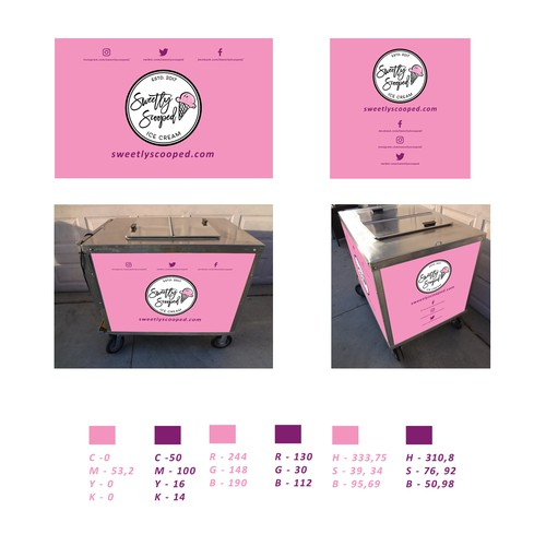 Ice Cream Cart Design for Sweetly Scooped Ice Cream