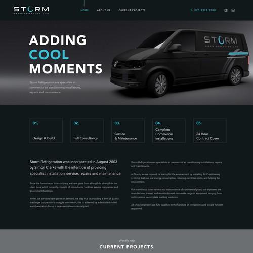 Webdesign for Storm