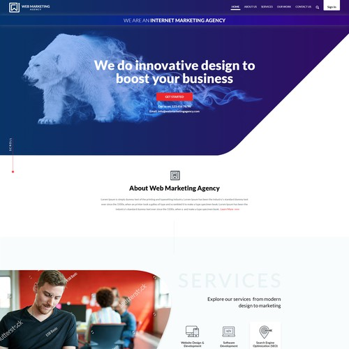 Modern Website Design for Web Marketing Agency