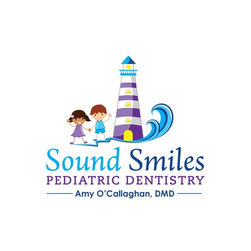 "Create a ""smiling"" logo for a pediatric dentist"