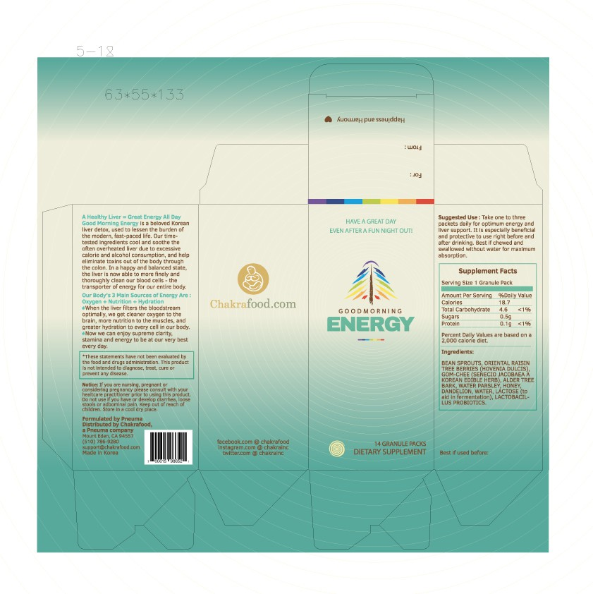 Packaging for Chakrafood's New Health Product