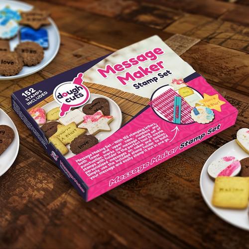 Packaging for bakery alphabet