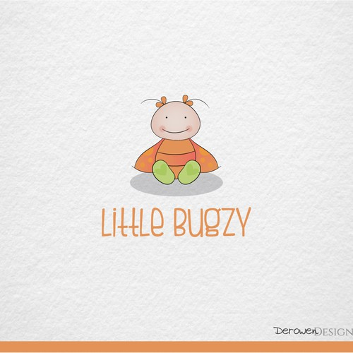 Cheerful logo of a cute baby bug