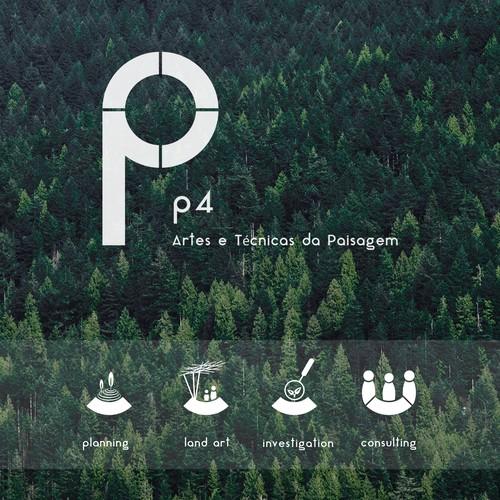 """Logo for the Landscape Architecture Studio """"P4"""""""