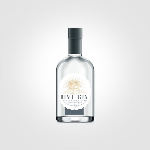 Logo Design for Rivi Gin