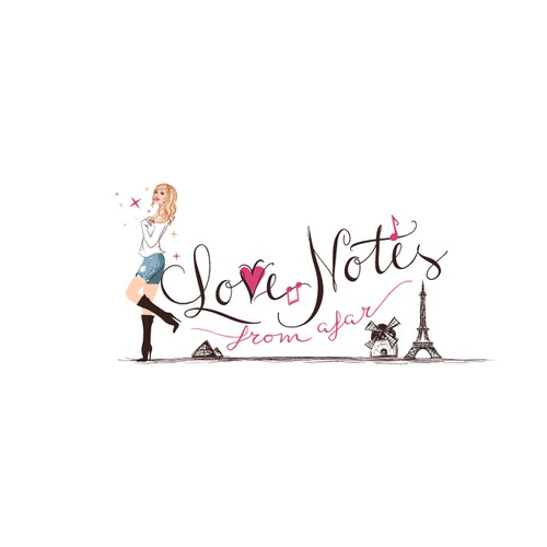 logo for Love Notes From Afar..