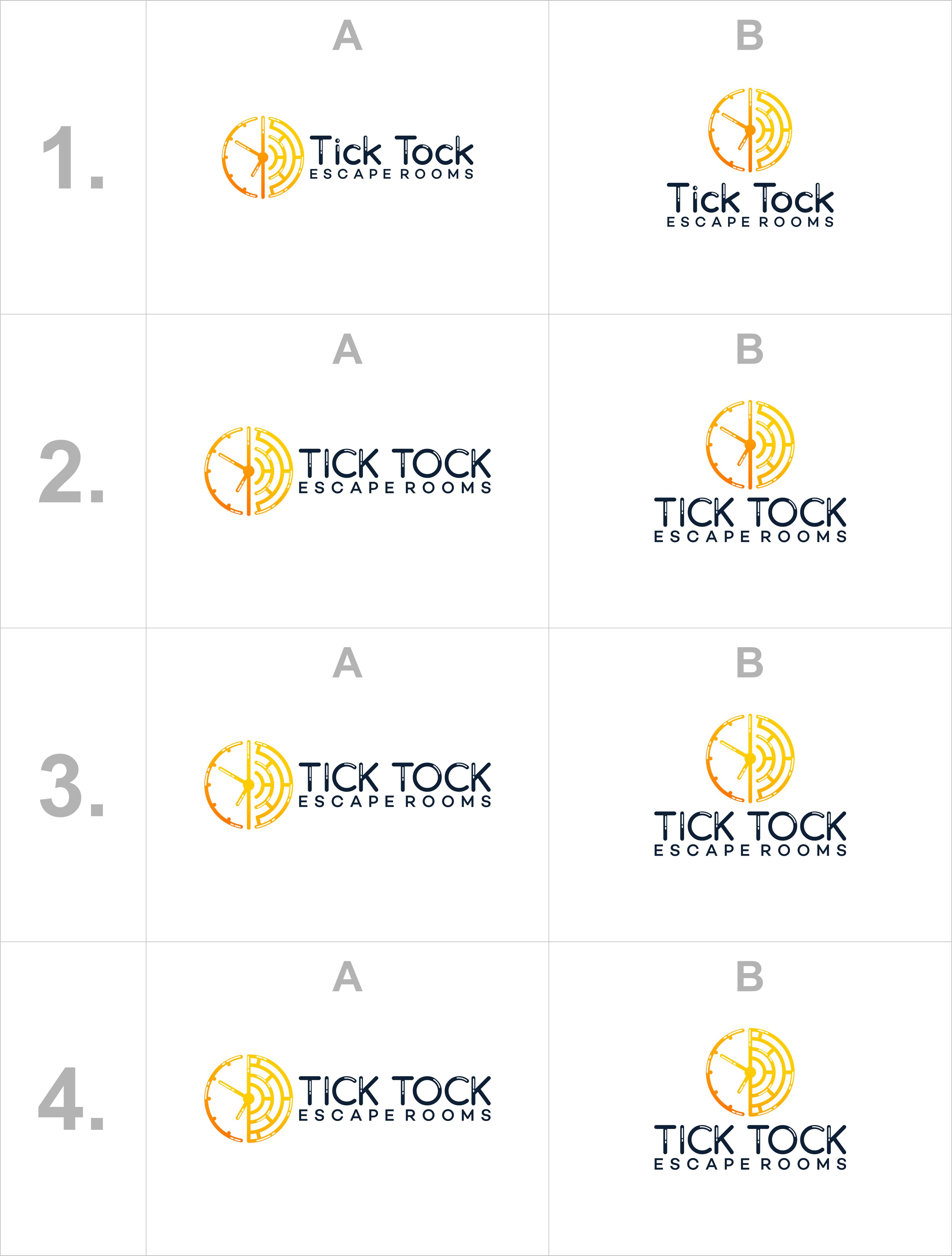Tick Tock escape rooms need a creative & fun logo