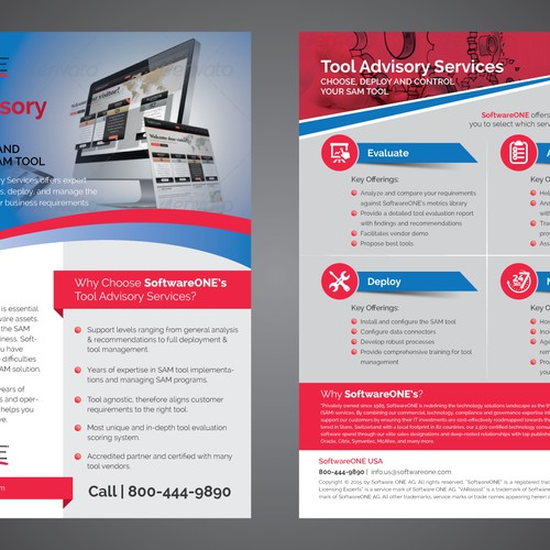Tool Advisory Flyer design requried for external business opportunities