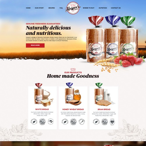 Harpers Bread Website Concept