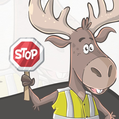 moose mascot design