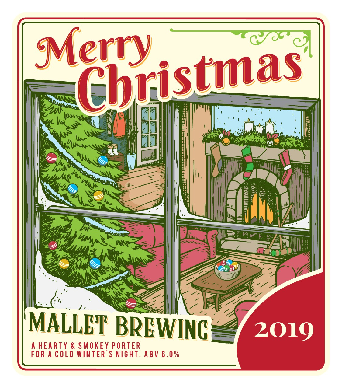 Mallet Brewing Christmas 2019 Label