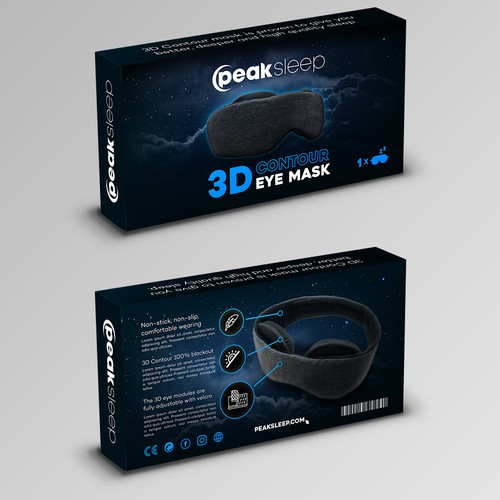 Peaksleep eye mask package .