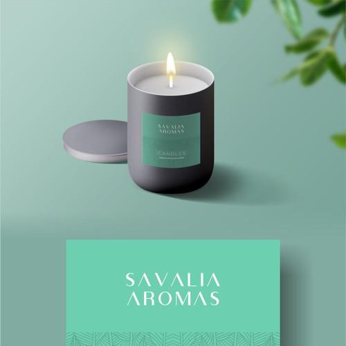 Savalia Aromas Candle Label Design