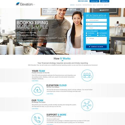 Bookkeeping Landing Page