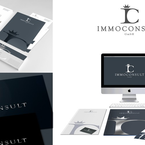 IC IMMOCONSULT - logo design
