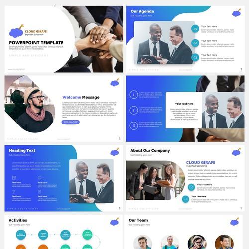 Powerpoint Template for Cloud Girafe