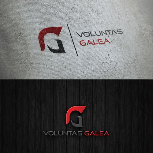 strong and powerful logo for voluntas galea