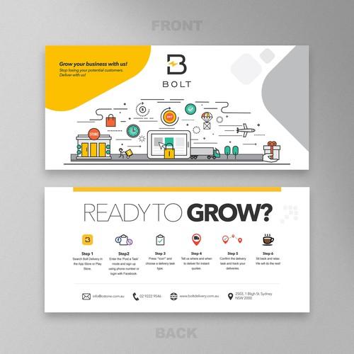 Illustration base flyer design for Bolt
