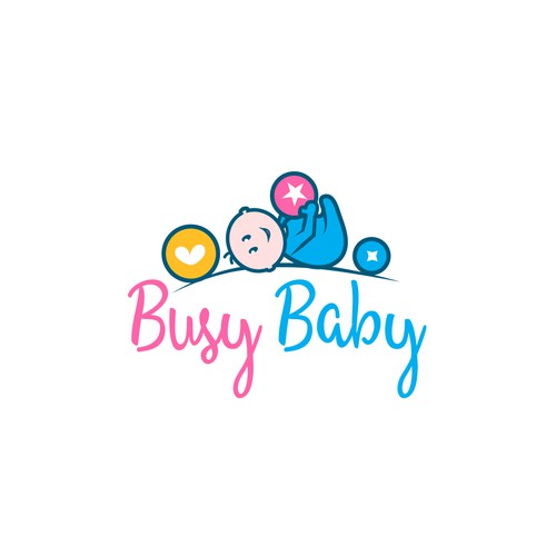 Cute logo for a baby products company