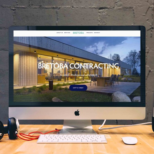 Visually Stunning Website built for a Contractor