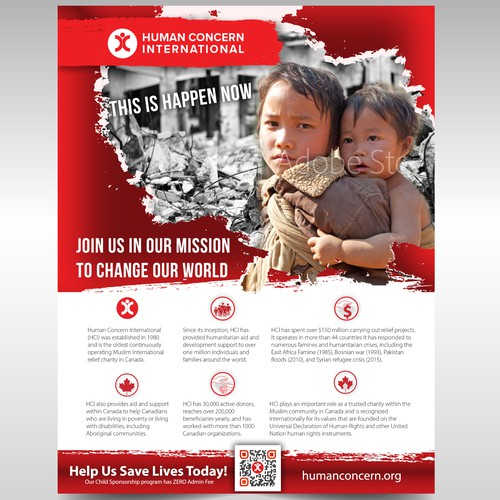 Infographic Ad For Canadian Charity
