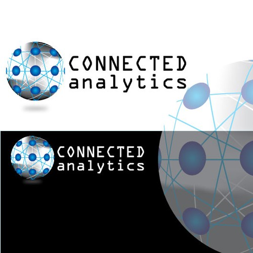 Create the next logo and business card for Connected Analytics