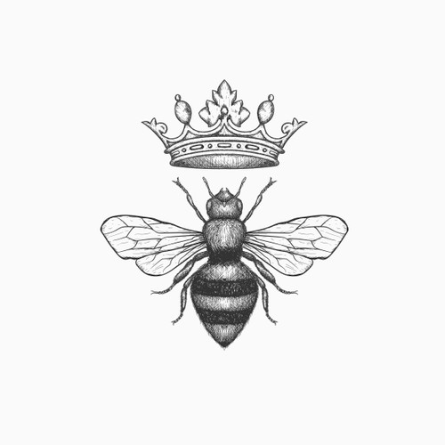 Classic logo for Honey beekeeper company