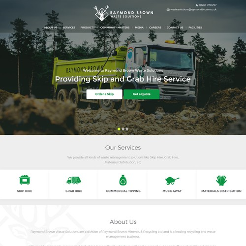 Raymond Brown Waste Solutions Home Page