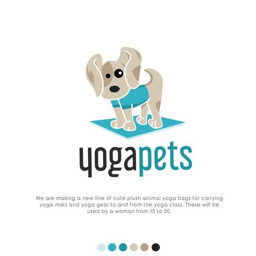 Cute logo for animal plush yoga bag