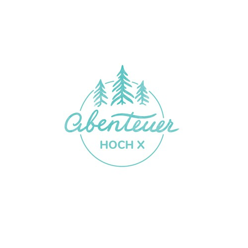 Logo concept for personal blog about traveling