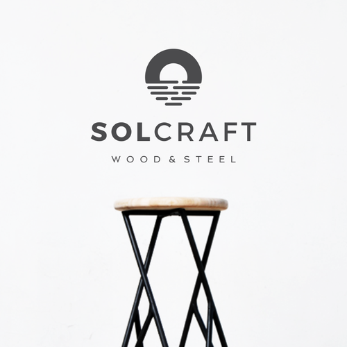 Bold Iconic Logo for Solcraft Custom Fabrication