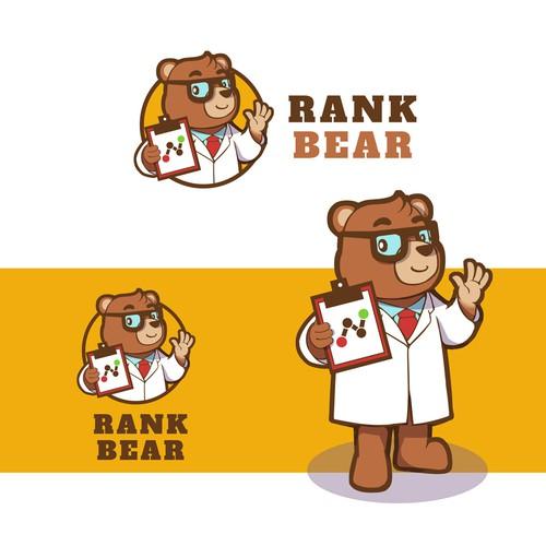 Five-star mascot design for a rank app logo