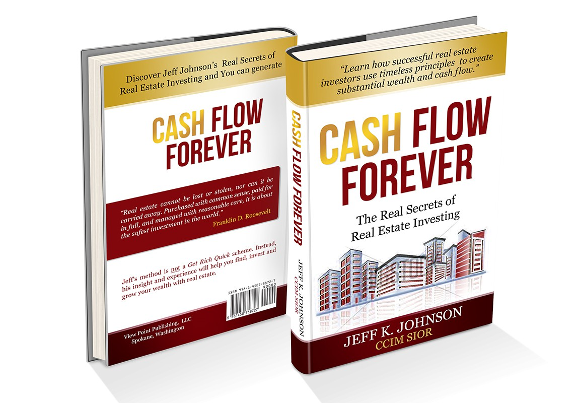 Book cover design for an  easy to understand book on the key concepts of real estate investing