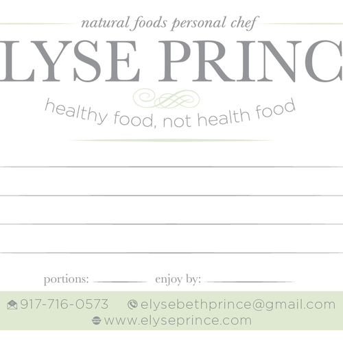 Prepared food label
