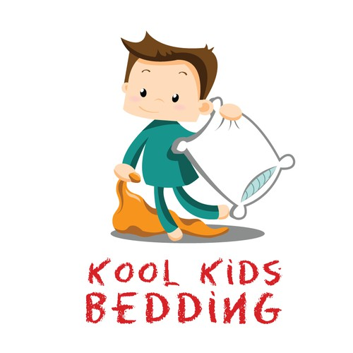 Kid friendly logo for a bedding company.
