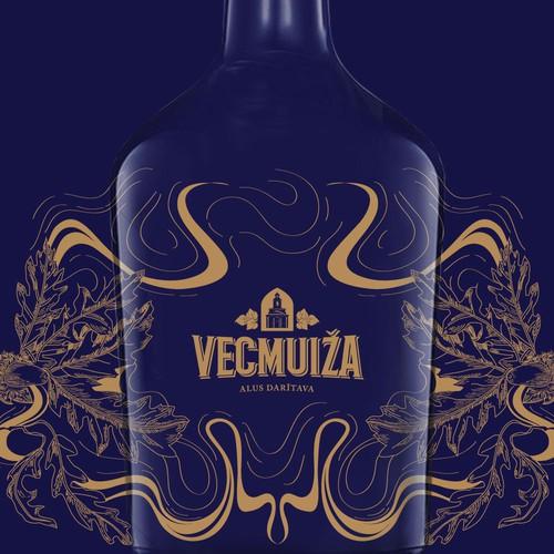 Whiskey label design