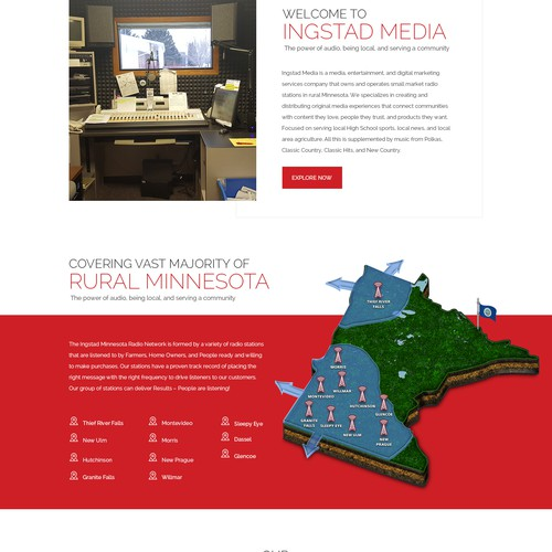 Web design for radio station