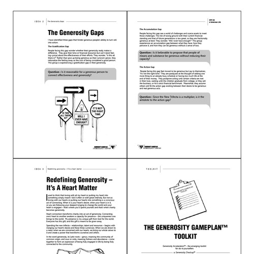 Book Layout for Sample Chapters from Generosity GameplanTM (Only 25 pages!)