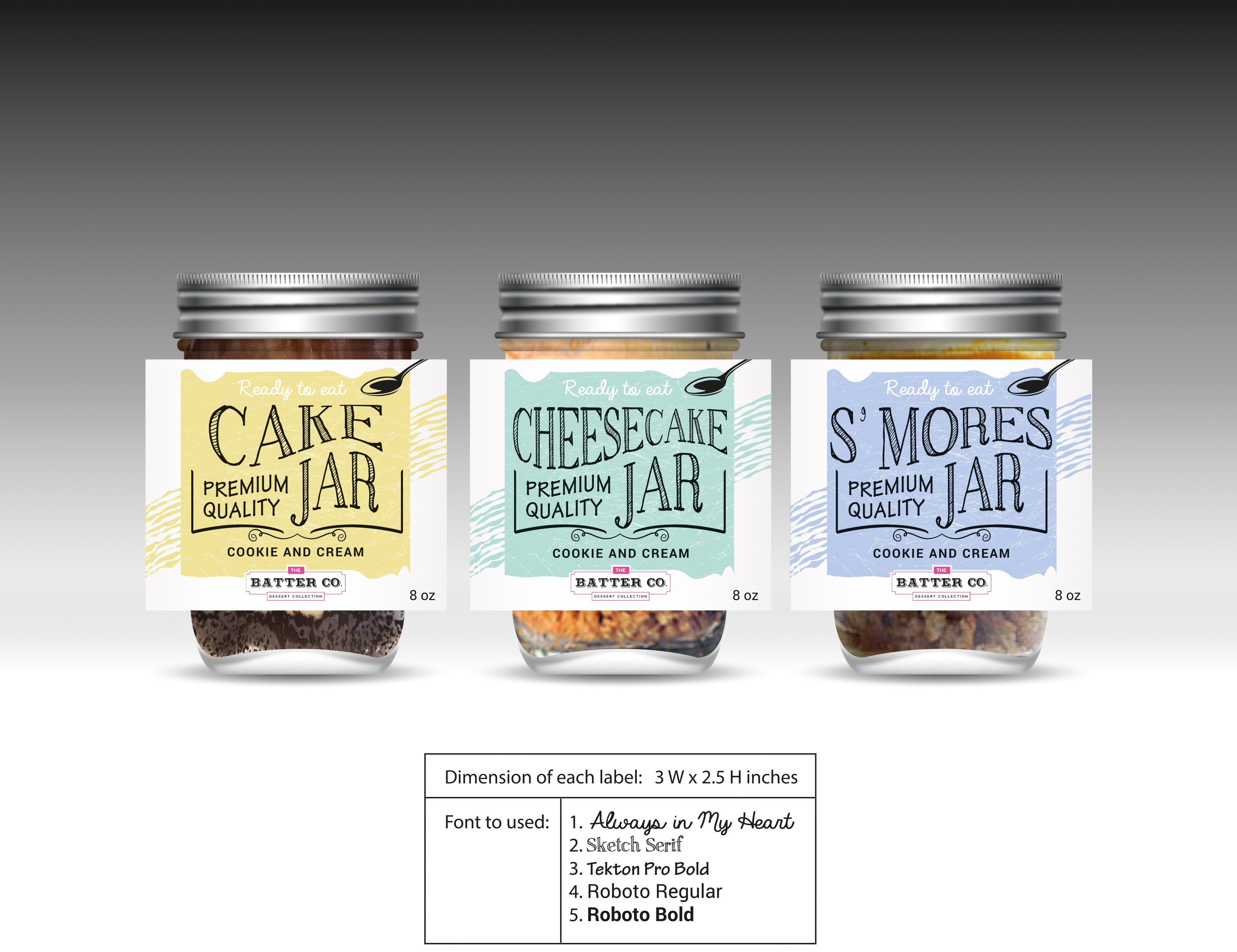 EDGY! FUN! LUXURIOUS! Create a great product label for our mason jar dessert!